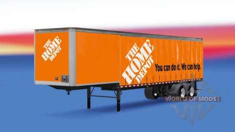 Cortina semirremolque Home Depot para American Truck Simulator