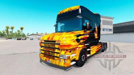 Piel Caliente, Paseo en tractor Scania T para American Truck Simulator