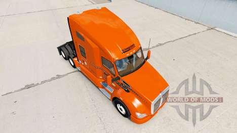 La piel Schneider Nacional sobre camión Kenworth para American Truck Simulator
