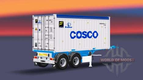 Semi-remolque con 20 libras de contenedor para Euro Truck Simulator 2