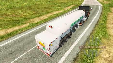 El semirremolque tanque White Martins para Euro Truck Simulator 2