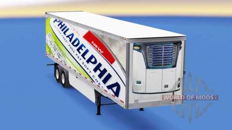 La piel de Filadelfia en el remolque para American Truck Simulator