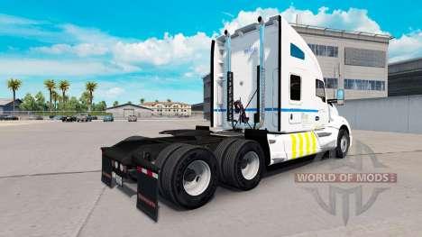 La piel de Transporte de Quebec en Kenworth trac para American Truck Simulator