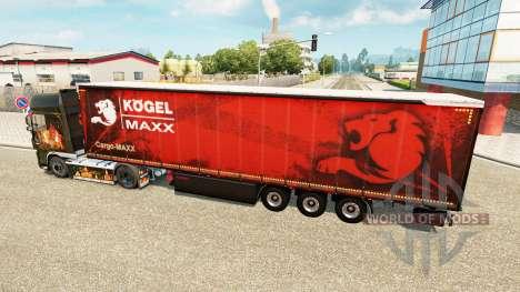 Cortina semi-remolque Kogel maxx para Euro Truck Simulator 2