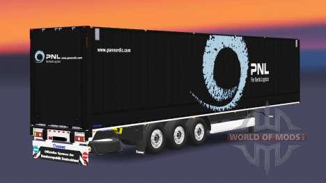 El semirremolque-van Krone Dryliner v3.0 para Euro Truck Simulator 2
