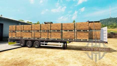 Semitrailer Wielton platform para Euro Truck Simulator 2