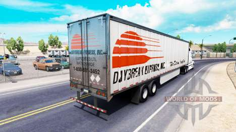 La piel Daybreak Express en el trailer para American Truck Simulator