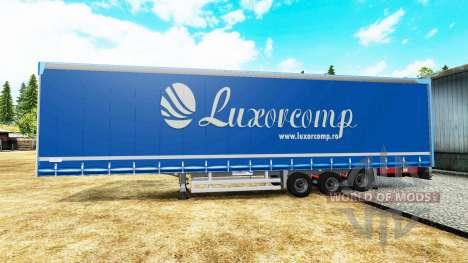 Cortina semi-remolque Luxorcomp para Euro Truck Simulator 2