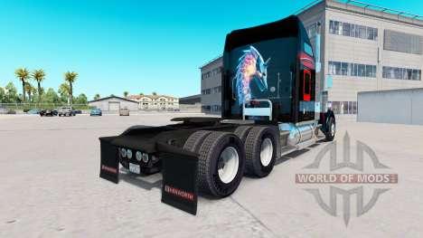 Skin Bitdefender tractor Kenworth W900 para American Truck Simulator