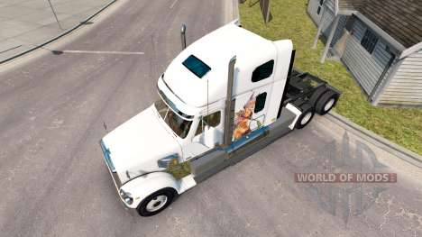 La piel de chicas Anime a luchar por un Freightl para American Truck Simulator