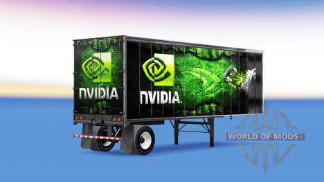 Pieles ATi Radeon Y Nvidia GeForce en el remolqu para American Truck Simulator