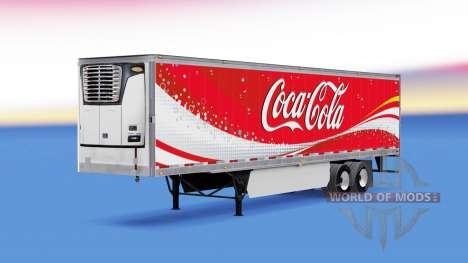 La piel de Coca-Cola refrigerados semi-remolque para American Truck Simulator