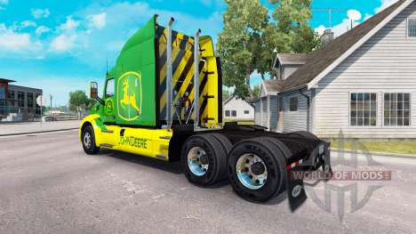 La piel de John Deere tractor Peterbilt para American Truck Simulator