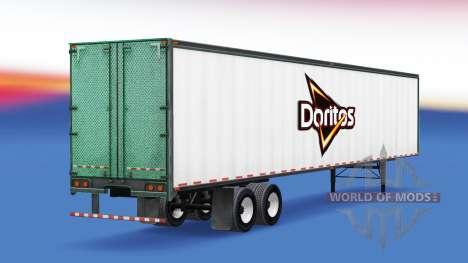 La piel de Doritos en el remolque para American Truck Simulator
