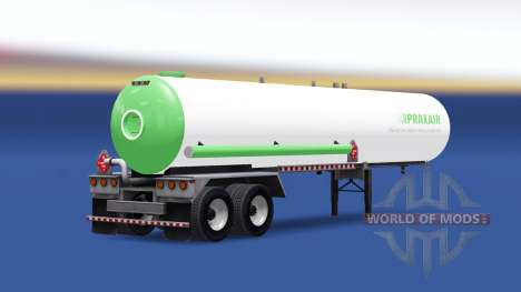 La piel Praxair combustible semi-remolque para American Truck Simulator