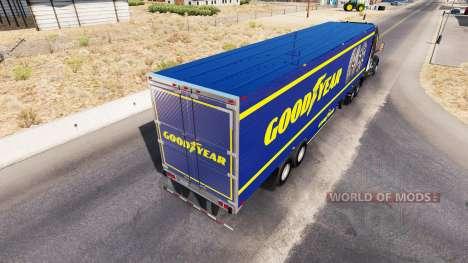 La piel de Goodyear en refrigerada semi-remolque para American Truck Simulator