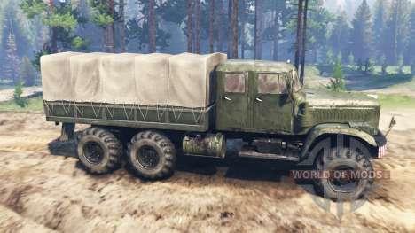 KrAZ-255 [doble cabina] para Spin Tires