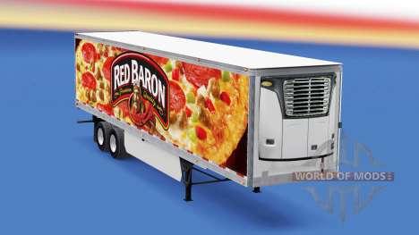 Barón rojo de la piel en el remolque refrigerado para American Truck Simulator