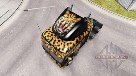 Piel de Jaguar en el camión Freightliner Argosy para American Truck Simulator