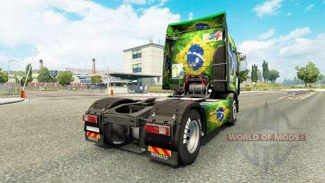 La piel de Brasil 2014 para tractor Renault para Euro Truck Simulator 2