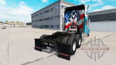 La piel del Capitán América en el camión Kenwort para American Truck Simulator
