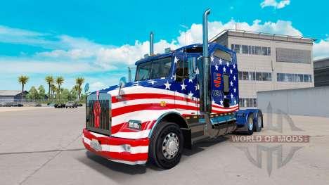 La piel de la Bandera de estados UNIDOS tractor  para American Truck Simulator