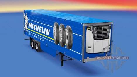 Michelin de la piel en el remolque refrigerado para American Truck Simulator