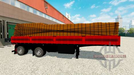 Plataforma semi remolque con carga para Euro Truck Simulator 2