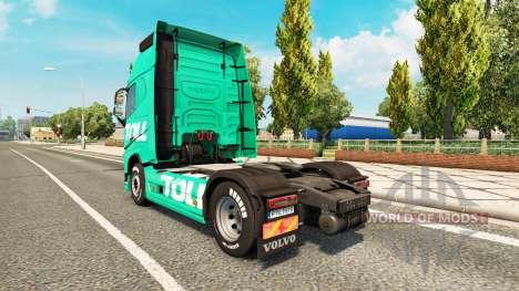 Peaje de la piel para camiones Volvo para Euro Truck Simulator 2