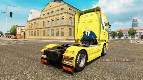 Homer Simpson de la piel para Scania camión para Euro Truck Simulator 2