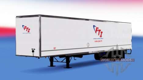 De metal semi-FTI para American Truck Simulator