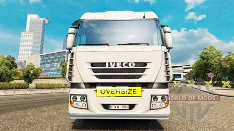 Oversize Load Sign para Euro Truck Simulator 2