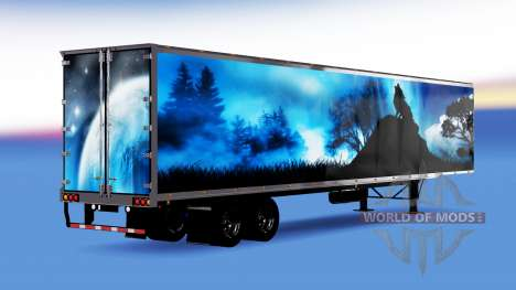 De metal semi-remolque Lobo para American Truck Simulator