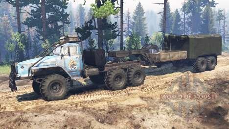 Ural-4320-10 10x10 v2.0 para Spin Tires