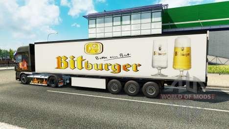 La piel Bitburger en el remolque para Euro Truck Simulator 2