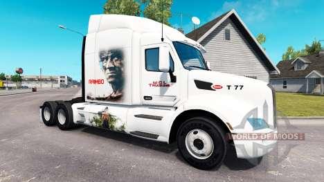 Rambo de la piel para el camión Peterbilt para American Truck Simulator