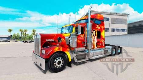 Zorro de piel para el Kenworth W900 tractor para American Truck Simulator