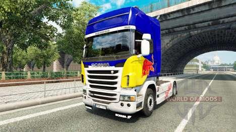 La piel de Red Bull v2.0 camión Scania para Euro Truck Simulator 2