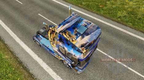 La piel en invierno para Scania camión para Euro Truck Simulator 2