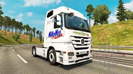 La piel de la vía Láctea sobre el tractor Merced para Euro Truck Simulator 2