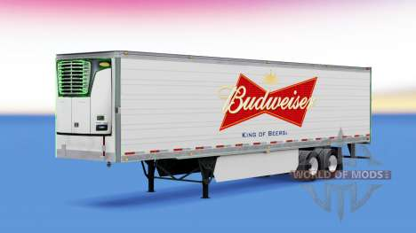 La piel de Budweiser reefer semi-remolque para American Truck Simulator