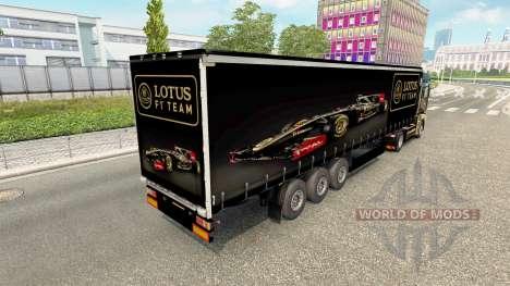 La piel de Lotus F1 para la semi para Euro Truck Simulator 2