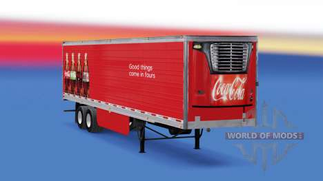 Refrigerado semi-remolque de Coca-Cola para American Truck Simulator
