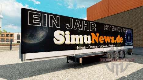 La piel SimuNews en el remolque para Euro Truck Simulator 2