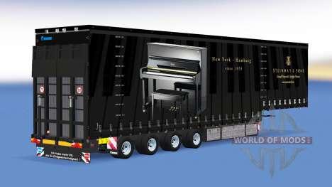 Cuatro ejes de la cortina semi-remolque v1.1.1 para American Truck Simulator