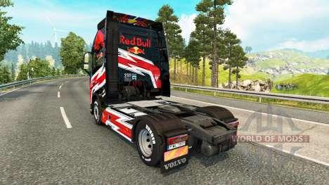 Rojo de la piel de Toro para camiones Volvo para Euro Truck Simulator 2