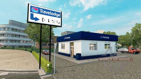 Cadena de hoteles Travelodge en Premier Inn para Euro Truck Simulator 2