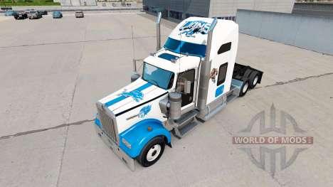 Pieles de la NFL para los camiones Kenworth W900 para American Truck Simulator