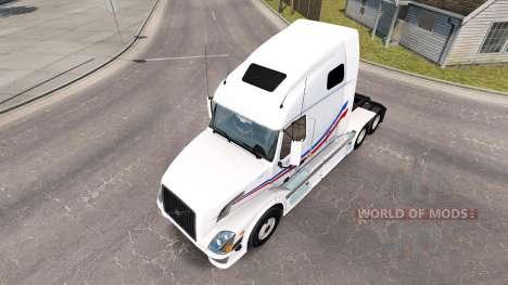 La piel de Jacques Barrena para tractor Volvo VN para American Truck Simulator