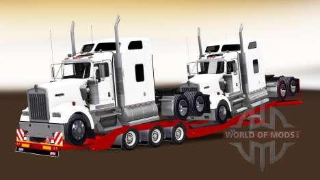 Bajo marco de arrastre con una carga de tractore para American Truck Simulator